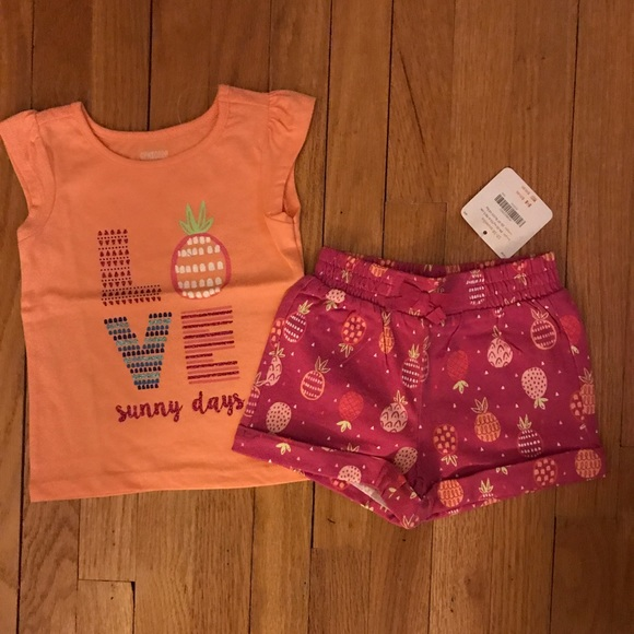 NWT Gymboree TEA TIME AFTERNOON Girls Size 3 4 Shorts Tee Shirt Top 2-PC OUTFIT